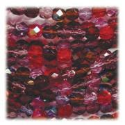 Glasschliffperlen 4mm MIX 100 Stück  Vineyard
