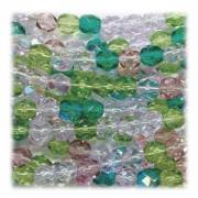 Glasschliffperlen 6mm MIX 100 Stück Lavender Garden
