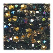 Glasschliffperlen 6mm MIX 100 Stück Heavy Metals