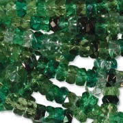 Firepolished Rondelle 3x6mm MIX03 Evergreen 100 Stück