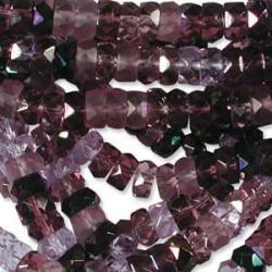 Firepolished Rondelle 3x6mm MIX01 Lilacs 100 Stück