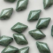 Gemduo 8x5mm Chalk Green Luster ca 10 Gramm