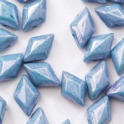 Gemduo 8x5mm Chalk Blue Luster ca 10 Gramm