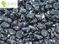 Gekko Beads 3x5mm Jet Hematite ca 10 gr