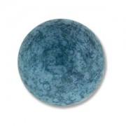 Glas Cabochon rund 18mm Luminous Turquoise Blue 1 Stück