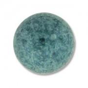 Glas Cabochon rund 18mm Luminous Green Turquoise 1 Stück