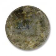 Glas Cabochon rund 24mm Travertine 1 Stück