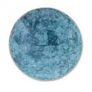 Glas Cabochon rund 24mm Luminous Turquoise Blue 1 Stück