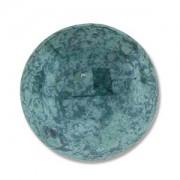 Glas Cabochon rund 24mm Luminous Green Turquoise 1 Stück