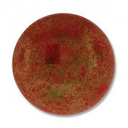 Glas Cabochon rund 24mm Luminous Red Coral 1 Stück