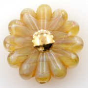 Unicorne Daisy Bead Vintage 22K Gold Center Honey, 1 Stück