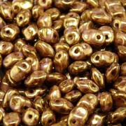 Glasperlen Superuno Beads 2,5x5mm UN0503000-15695-21 Chalk Senegal Brown Purple ca 22gr