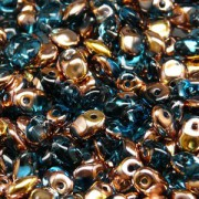 Glasperlen Superuno Beads 2,5x5mm UN0560020-27101-40 Aqua Capri Gold ca 22gr