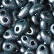 Twin Beads TWN28958M 2,5x5mm Pearlmatt Jet Dark Teal ca23gr.