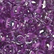 Twin Beads TWN38628 2,5x5mm Crystal Lilac Colorlined ca23gr.