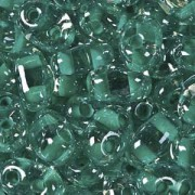 Twin Beads TWN38658 2,5x5mm Crystal Green Colorlined ca23gr.