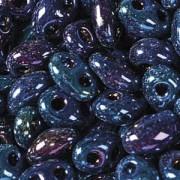Twin Beads TWN59135 2,5x5mm Jet Rainbow Medium Blue ca23gr.