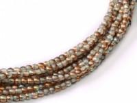 Glasperlen rund gepresst Crystal Copper 2mm ca 150 Stück