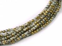 Glasperlen rund gepresst Crystal Golden Rainbow 2mm ca 150 Stück