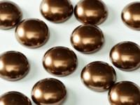 Glass Pearl Cabochons 14mm Bronze 5 Stück