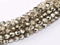 Glasschliffperlen 3mm Crystal Smokey Metallic Ice 100 Stück