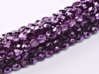 Glasschliffperlen 4mm Crystal Amethyst Metallic Ice 100 Stück