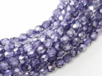 Glasschliffperlen 3mm Crystal Violet Metallic Ice 100 Stück