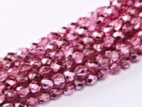 Glasschliffperlen 4mm Crystal Rose Metallic Ice 100 Stück