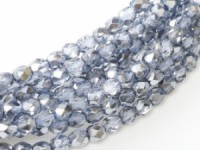 Glasschliffperlen 3mm Crystal Sky Metallic Ice 100 Stück