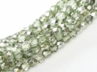 Glasschliffperlen 3mm Crystal Seafoam Metallic Ice 100 Stück