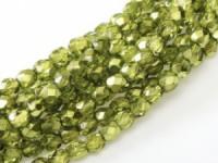 Glasschliffperlen 3mm Crystal Olive Metallic Ice 100 Stück