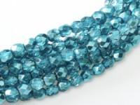 Glasschliffperlen 3mm Crystal Marine Metallic Ice 100 Stück