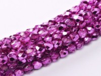 Glasschliffperlen 3mm Crystal Hot Pink Metallic Ice 100 Stück