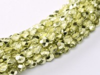 Glasschliffperlen 3mm Crystal Lime Metallic Ice 100 Stück