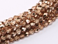 Glasschliffperlen 3mm Crystal Peach Metallic Ice 100 Stück