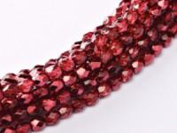Glasschliffperlen 3mm Crystal Pomegranate Metallic Ice 100 Stück