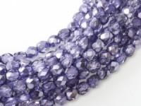 Glasschliffperlen 4mm Crystal Violett Metallic Ice 100 Stück