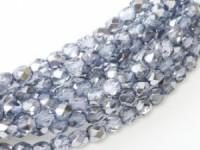 Glasschliffperlen 4mm Crystal Sky Metallic Ice 100 Stück