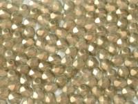 Glasschliffperlen 4mm Crystal GT Champagne ca 100 Stück