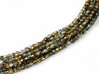 Glasschliffperlen 2mm Crystal Golden Rainbow ca 150 Stück
