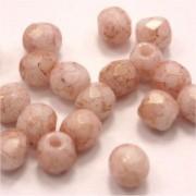 Glasschliffperlen 4mm Antik Rose Opal 100 Stück