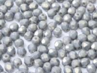 Glasschliffperlen 4mm Chalk White Copper 100 Stück