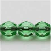 Glasschliffperlen 3mm Light Smaragd 100 Stück