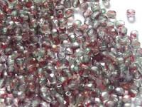 Glasschliffperlen 4mm Crystal Pink Grün Gold Luster 100 Stück