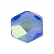 Glasschliffperlen 3mm Sapphire irisierend 100 Stück