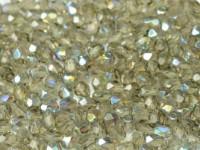 Glasschliffperlen 4mm Black Diamond AB beschichtet 100 Stück