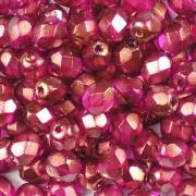 Glasschliffperlen 4mm Rose Satin 100 Stück