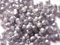 Glasschliffperlen 6mm Crystal Silber matt 25 Stück