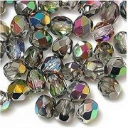 Glasschliffperlen 6mm Crystal VM 50 Stück
