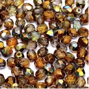 Glasschliffperlen 3mm Crystal Magic Copper 100 Stück